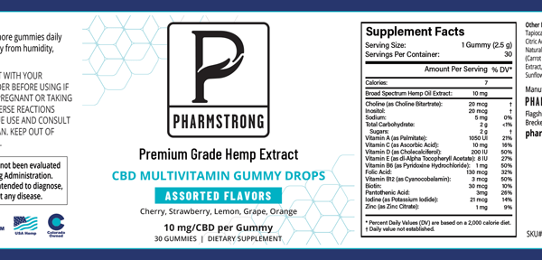 Pharmstrong_Gummies_Label Ingredients